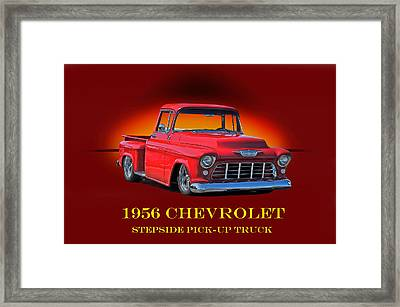 1956 Chevrolet Custom Pick Up Framed Print by Dave Koontz