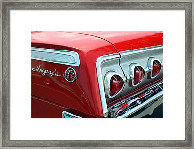 1956 Chevrolet Impala Ss Taillights 2 Framed Print by DJ Monteleone