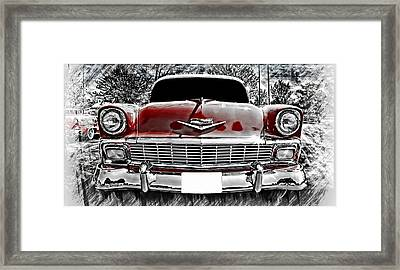 Framed Print featuring the photograph 1956 Chevy Bel Air by Aaron Berg