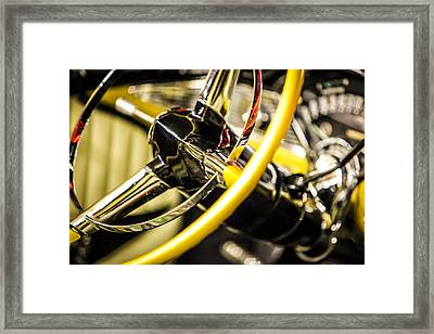 1956 Chevy Bel Air Steering Wheel  Framed Print by Shanna Gillette