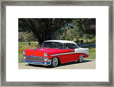 1956 Chevy Bel Air West Framed Print by Dave Koontz