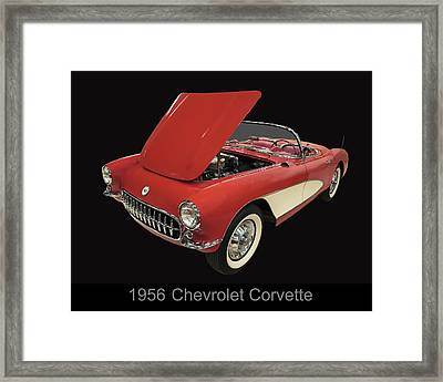 1956 Chevy Corvette Framed Print by Chris Flees