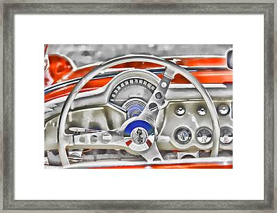 1956 Chevy Corvette Dash Wowc Framed Print by Kevin Anderson