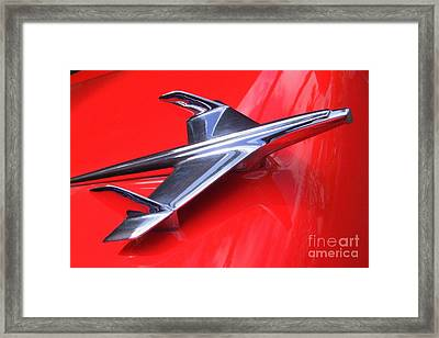 1956 Chevy Hood Ornament Framed Print by Mary Deal