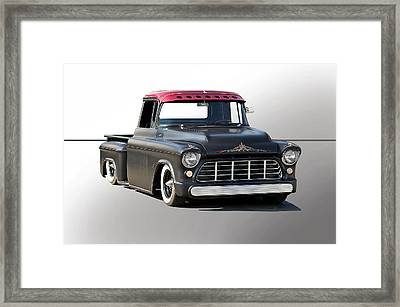 1956 Chevy Lowrider Custom Framed Print by Dave Koontz