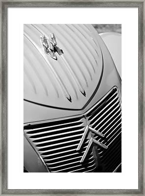 1956 Citroen 2cv Hood Ornament - Grille Framed Print by Jill Reger
