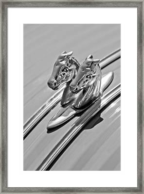 1956 Citroen 2cv Hood Ornament Framed Print by Jill Reger
