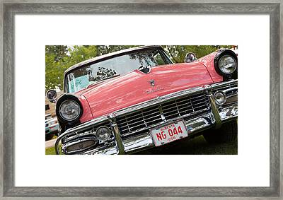 Framed Print featuring the photograph 1956 Classic Car by Mick Flynn