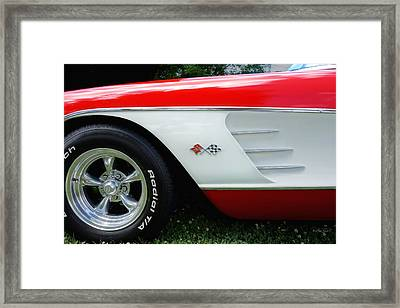 1956 Corvette  Framed Print by Ann Powell