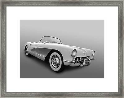1956 Corvette Framed Print by Bill Dutting