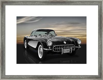1956 Corvette - C1 Framed Print by Frank J Benz