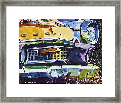 1956 Desoto Abstract Framed Print by Rick Mock