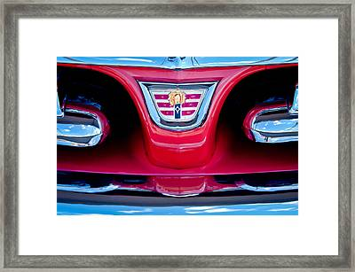 1956 Dodge Royal Lancer Emblem Framed Print