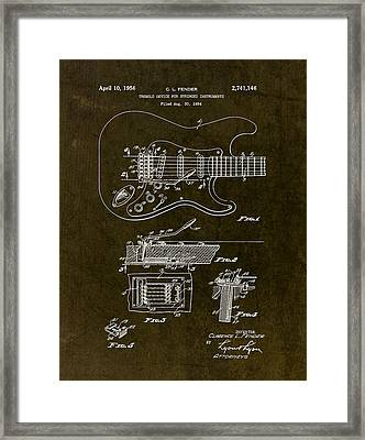 1956 Fender Tremolo Patent Drawing II Framed Print by Gary Bodnar