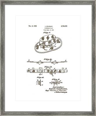 1956 Fisherman's Hat Patent Framed Print