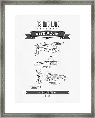 1956 Fishing Lure Patent Drawing Framed Print by Aged Pixel
