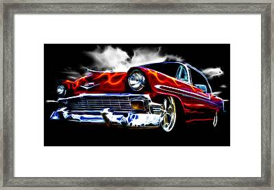 1956 Flamin Chevrolet Framed Print by Phil 'motography' Clark
