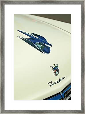 1956 Ford Crown Victoria Fairlane Hood Ornament - Emblem Framed Print