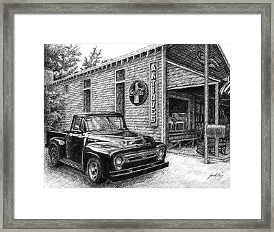 1956 Ford F-100 Truck Framed Print by Janet King