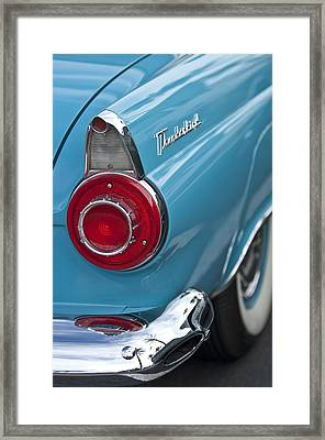 1956 Ford Thunderbird Taillight And Emblem Framed Print