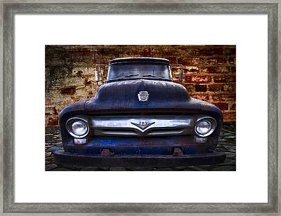 1956 Ford V8 Framed Print by Debra and Dave Vanderlaan