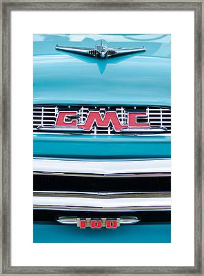 1956 Gmc 100 Deluxe Edition Pickup Truck Framed Print by Jill Reger