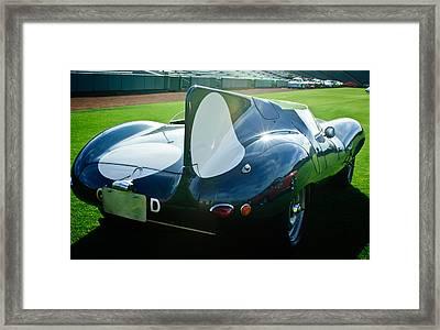 1956 Jaguar D-type Framed Print by Jill Reger