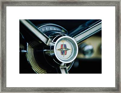 1956 Lincoln Continental Mark II Hess And Eisenhardt Convertible Steering Wheel Emblem Framed Print