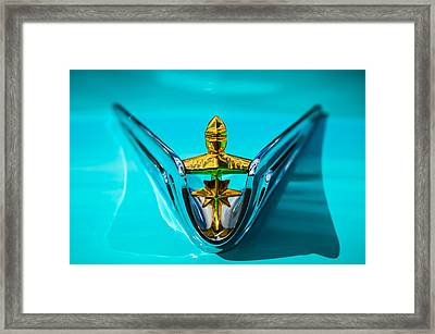 1956 Lincoln Premiere Hood Ornament -0815c Framed Print by Jill Reger