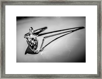 1956 Lincoln Premiere Hood Ornament -1098bw Framed Print