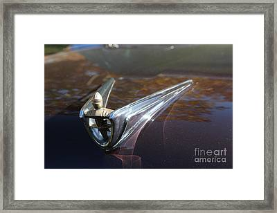 1956 Lincoln Premiere Hood Ornament 5d26426 Framed Print by Wingsdomain Art and Photography