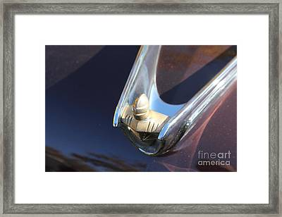 1956 Lincoln Premiere Hood Ornament 5d26427 Framed Print by Wingsdomain Art and Photography