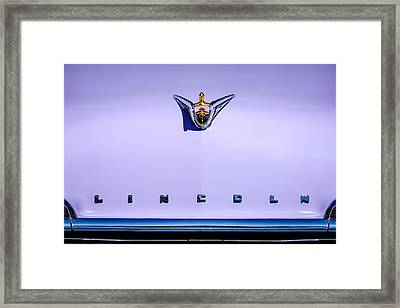 1956 Lincoln Premiere Hood Ornament - Embelm -1110c Framed Print by Jill Reger