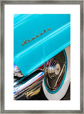 1956 Lincoln Premiere Rear Emblem  - Wheel -0828c Framed Print