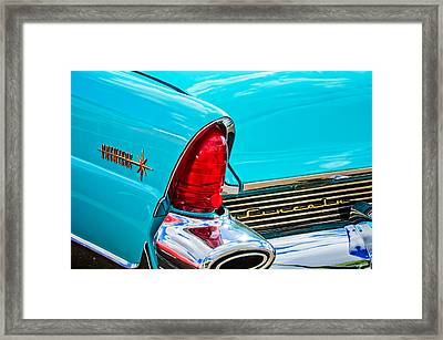 1956 Lincoln Premiere Taillight Emblem -0887c Framed Print by Jill Reger