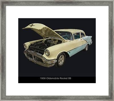 1956 Oldsmobile Rocket 88 Framed Print by Chris Flees