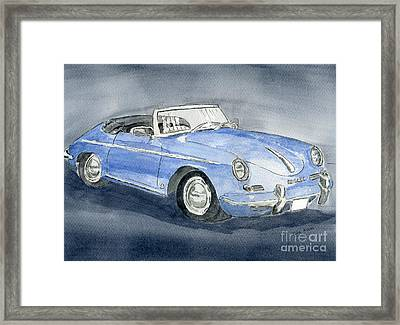 1956 Porche 356b Roadster Framed Print by Eva Ason