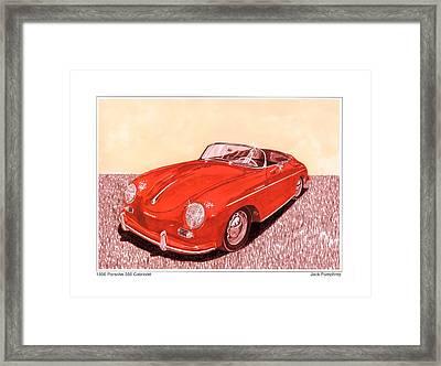 1956 Porsche 356 Cabriolet Framed Print by Jack Pumphrey