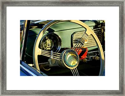 1956 Volkswagen Vw Bug Steering Wheel 2 Framed Print by Jill Reger