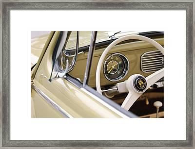 1956 Volkswagen Vw Bug Steering Wheel 3 Framed Print by Jill Reger