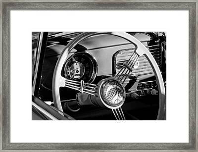 1956 Volkswagen Vw Bug Steering Wheel Emblem Framed Print