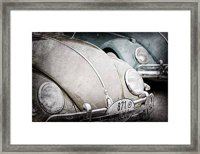 1956 Volkswagen Vw Bugs  Framed Print by Jill Reger