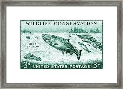1956 Wildlife Conservation Stamp Framed Print by Historic Image