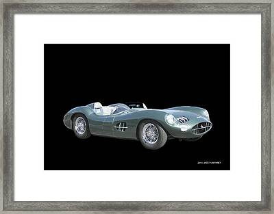 1957 Aston Martin Front Framed Print by Jack Pumphrey
