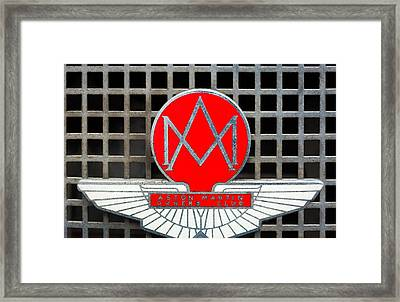 1957 Aston Martin Owner's Club Emblem Framed Print by Jill Reger
