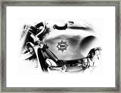 1957 Bsa Cafe Racer Monochrome  Framed Print