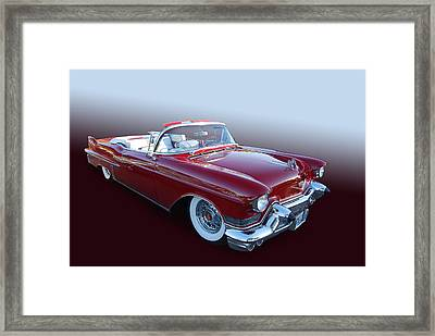1957 Cadillac Convertible Framed Print by Bill Dutting