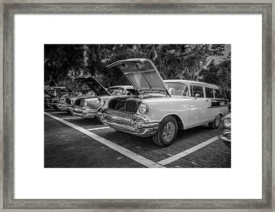 1957 Chevrolet 210 2 Door Stationwagon Painted Bw    Framed Print by Rich Franco