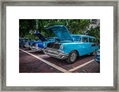 1957 Chevrolet 210 2 Door Stationwagon Painted  Framed Print by Rich Franco