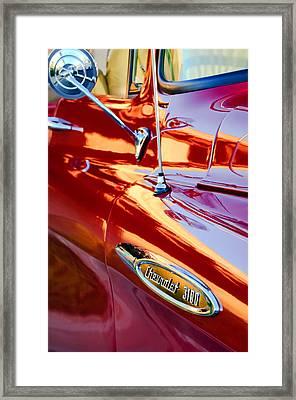 1957 Chevrolet 3100 Pickup Truck Side Emblem Framed Print